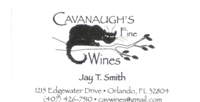 Cavanaugh's Fine Wines Business Card Ad