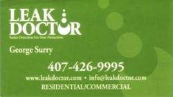 Leak Doctor Business Card image