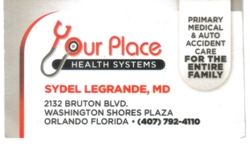 Your Place Medical Center Business Card image
